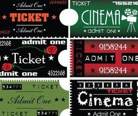 Retro Style Tickets vector