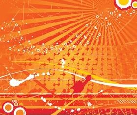 Orange Backgrounds creative vector