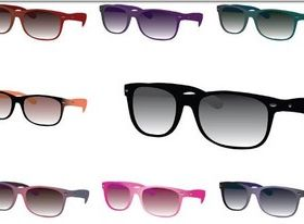 Colorul Stylish Sunglasses creative vector