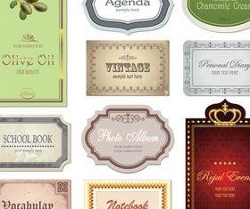 Color Vintage Style Labels vector graphics