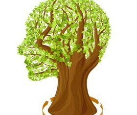 Creative leaves brain vector
