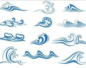 Marine Waves shiny vector