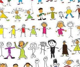 Drawing Children vector