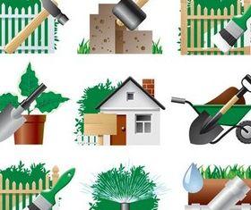Garden Symbols free vector material