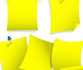 Yellow Staple Paper vectors