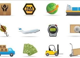 Transportation Icons vectors material