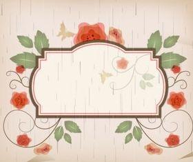 Fantasy flower border vector