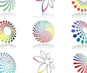 Colorful Round Logotypes creative vector