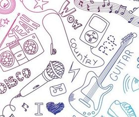 Drawing Music Elements vector