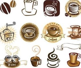 Coffee Style Elements Vector set