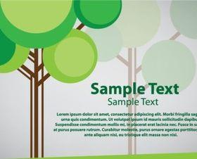 Creative tree set vector