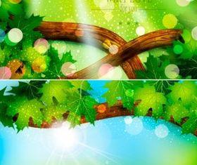 Spring natural set design vector material
