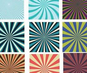 Color Stars Patterns design vector