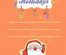 Christmas Message card 1 vector