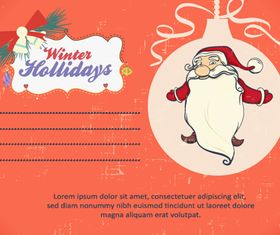 Christmas Message card 2 vector