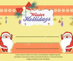Christmas Message card 3 vector