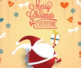 Christmas Message card 4 vector