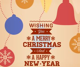Christmas New Year background 2 design vectors