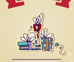 Christmas Greeting Cards vector set