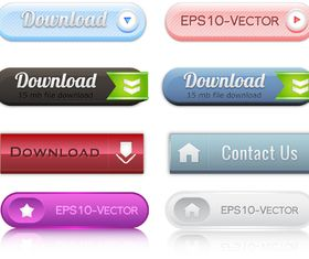 web button 3 creative vector set