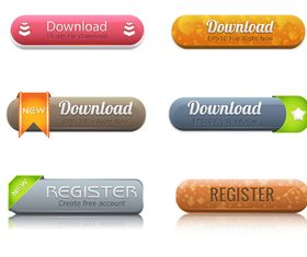 web button 5 creative vector set