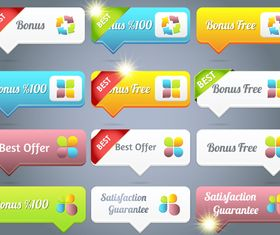 web button 7 creative vector set