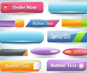 web button 11 creative vector set