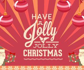 Jolly Christmas background 4 vector design