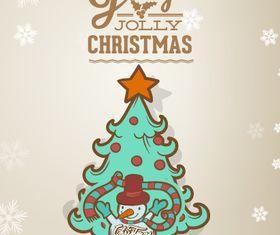 Jolly Christmas background 6 vector design