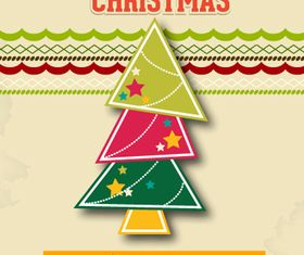 Xmas tree background 1 vector