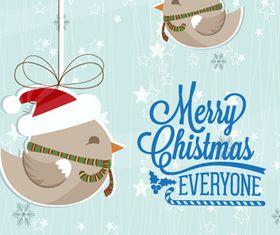 Christmas holiday card 2 vector
