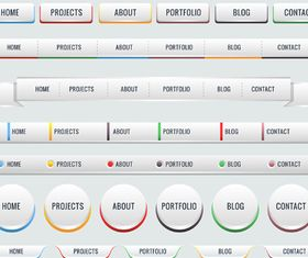 Web interface buttons 4 set vector