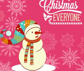 Snowman Christmas background 2 vector