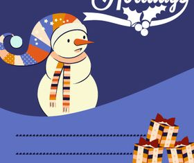 Snowman Christmas background 3 vector