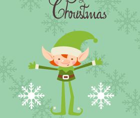 Cute Christmas background 1 vector