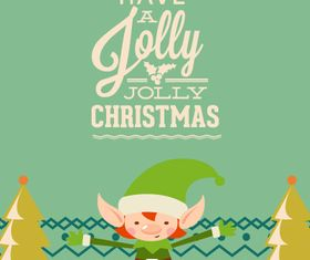 Cute Christmas background 2 vector
