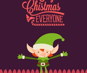 Cute Christmas background 4 vector
