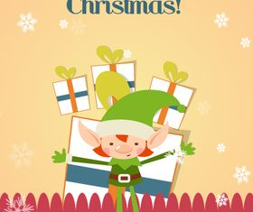 Cute Christmas background 6 vector