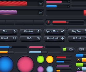 Web interface buttons 2 design vector