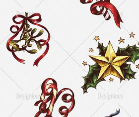 christmas stars and bells vector