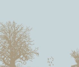 Trees background 11 vector