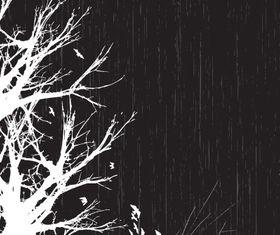 Trees background 12 vectors