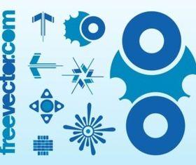 Blue Logos vector