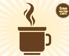 Coffee Mug Logo shiny vector