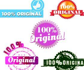 Original stamps design vectors