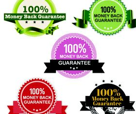 Money Back Guarantee stamps vector