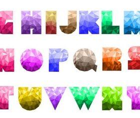 Creative Glass Alphabet vector design