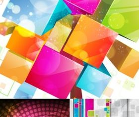 Colorful three-dimensional background vector