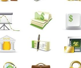 Money Vivid Icons creative vector