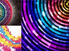 Colorful ring background vector graphics